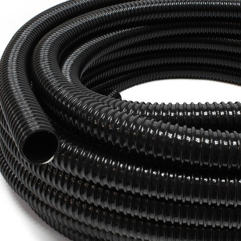 "Tuyau de bassin Tuyau spiralé 5 m 32 mm (1 1/4"") - Noir"