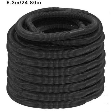 Tuyau de piscine Tuyau d'eau de diamètre 32 mm et de longueur totale 6,3 m résistant aux UV et au chlore