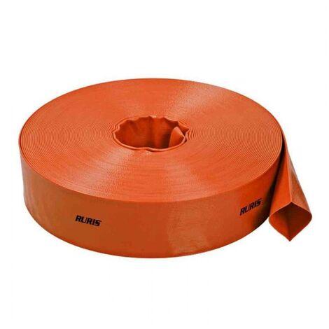 Tuyau de refoulement plat Ruris 20 m diamètre 38 mm / 1,5 pouces ACCWP40 - Orange