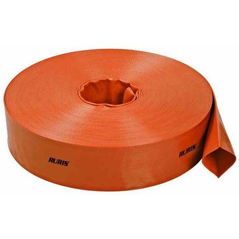 Tuyau de refoulement plat Ruris 20 m et diamètre 50 mm ACCWP50 - Orange