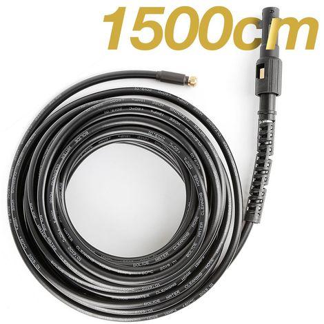 Tuyau déboucheur flexible embout pour nettoyeur haute pression 15m noir débouche