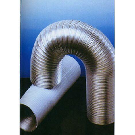 Tuyau d'extraction d'air compact 120Mmx5Mt Aluminium Blanc Alu Espir Espiroflex 5 Mt 02310120300
