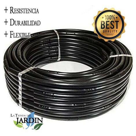 Tuyau d'irrigation goutte à goutte en polyéthylène de 16 mm tous les 33 cm noir, 100 mètres