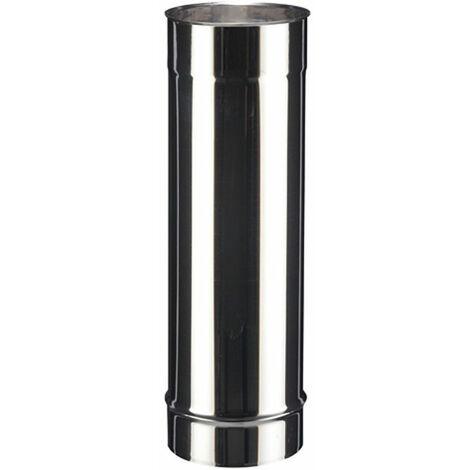 Tuyau droit inox SOI pour tous types de chaudières - Elément 45 cm - diamètre 130