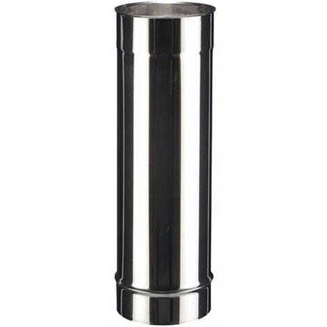 Tuyau droit inox SOI pour tous types de chaudières - Elément 95 cm - diamètre 150