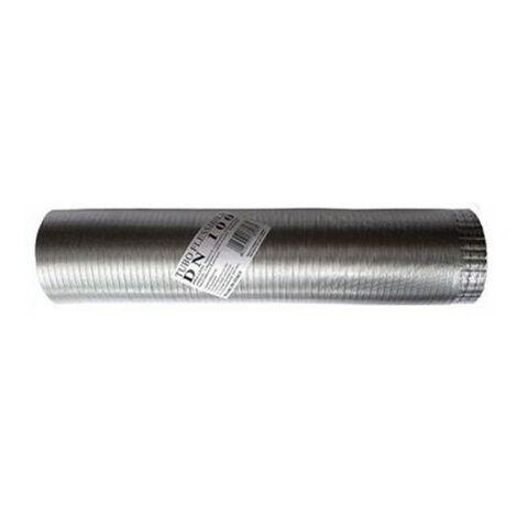 tuyau échappement aluminium NATUREL 120mm extensible 1à 3mt