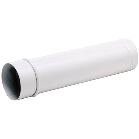 Tuyau émail blanc télescopique O200x50cm+bague