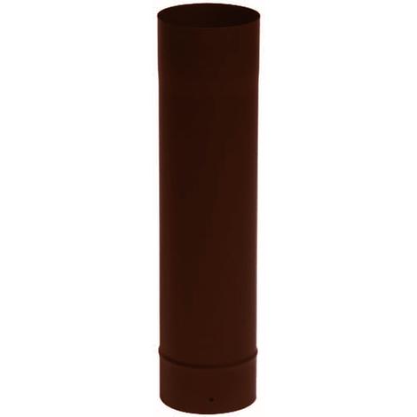 Tuyau émail brun O180 x 50 cm