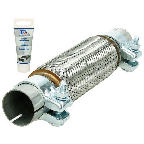 Tuyau flexible 45x200 mm 2x connecteur acier inoxydable avec pâte de montage 60g