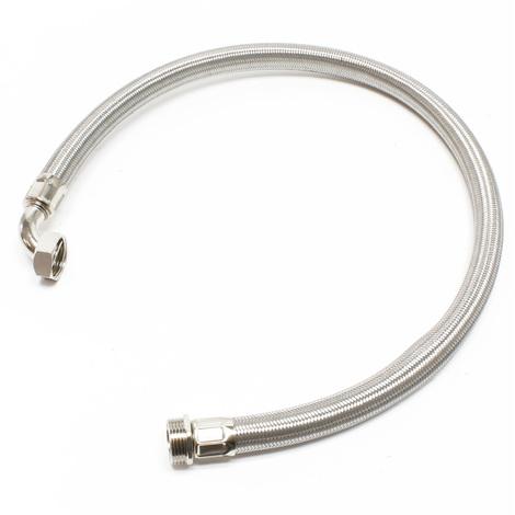 """Tuyau flexible acier 1m, 1"""" pour installation d'eau domestique"""