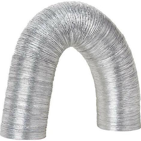 Tuyau flexible alu multicouche DN 127, argent 10 metres