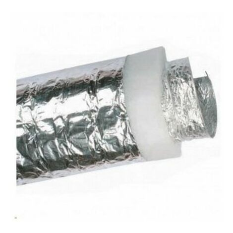Tuyau flexible de thermo-ventilation isolé 100 mm x 10 mt.