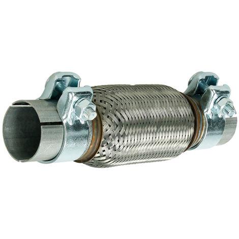 Tuyau flexible d'echappement 50x150/260 mm connecteur universel acier inoxydable