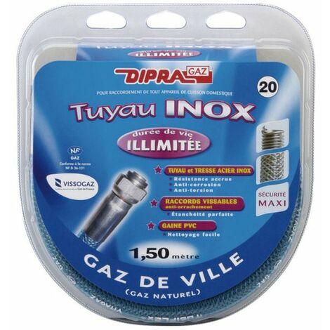 073150 flexible inox 1.5m ultima gaz naturel