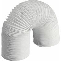 Tuyau flexible plastique pour hotte aspirante DN 102, gris 6 metres