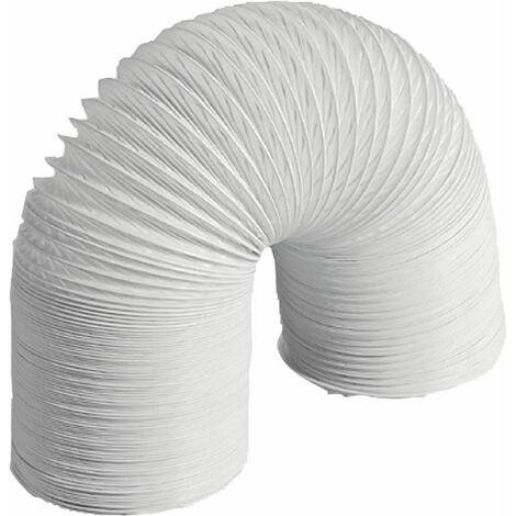 Tuyau flexible plastique pour hotte aspirante DN 127, gris 6 metres
