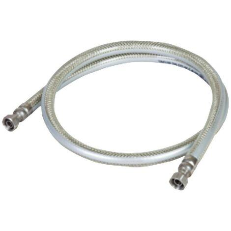 Tuyau gaz 2.00m GAZ NATUREL DE VILLE GARANTIE A VIE Flexible GN INOX PVC avec Amature renforcée