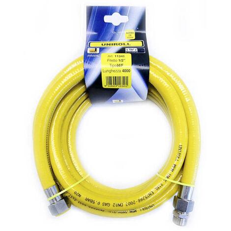 """tuyau gaz flexible INOX 4mt 1/2"""" MF EN15266 UNIROLL cuisine"""