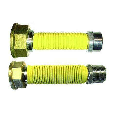 tuyau gaz flexible inox compteur 3/4-1 1/4 '' M-F 200/400 mm