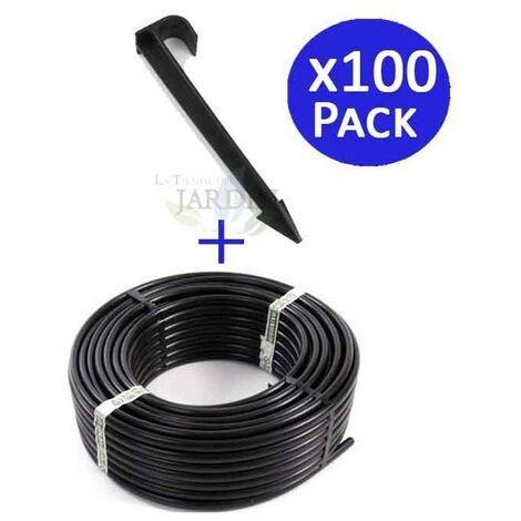 Tuyau goutte à goutte 16mm 100 mts + 100 supports