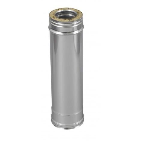 Tuyau double paroi en acier inoxydable pour conduits de chemin/ée L 250 mm