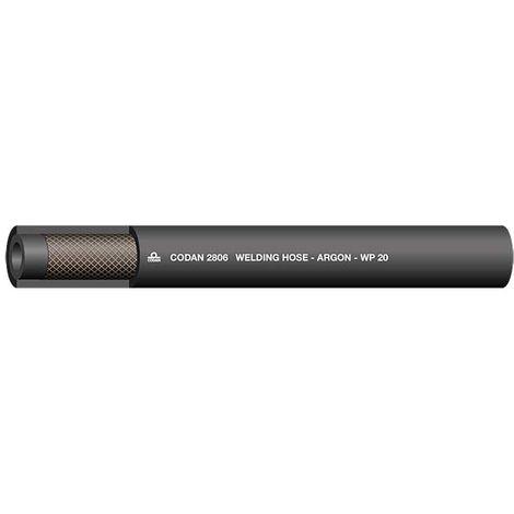 Tuyau Noir RS PRO, diamètre interne: 6.3mm, longueur 25m, pour Argon
