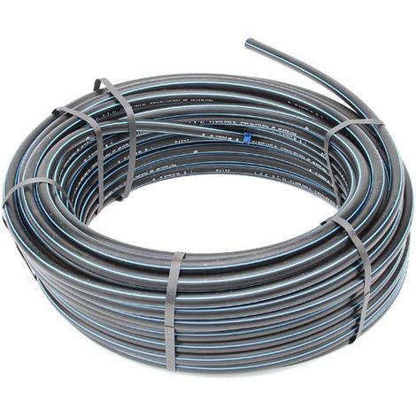 Tuyau polyéthylène Eau Potable 16 bars 50m - Ø 20mm ou 25 ou 32