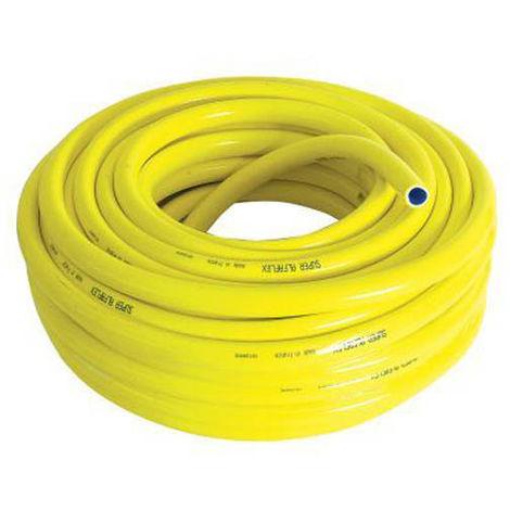 Tuyau PVC d'arrosage jaune anti torsion O19 en 50m