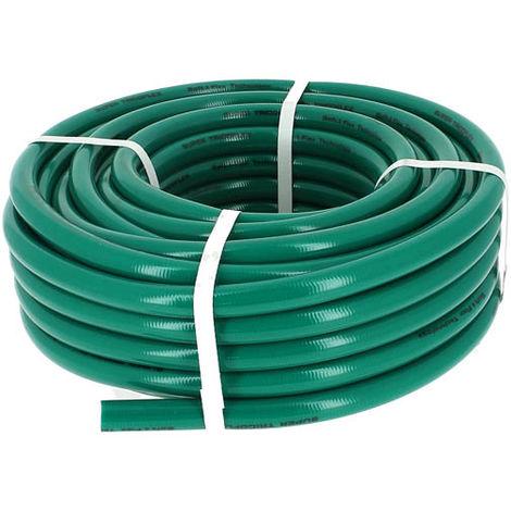 Tuyau PVC d'arrosage vert O19 en 50m