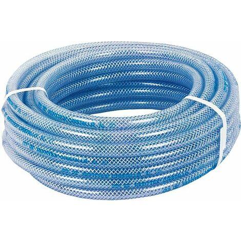 Tuyau transparent en PVC avec structure en polyestere 50m/20bar/10x16mm/-20° +60°C