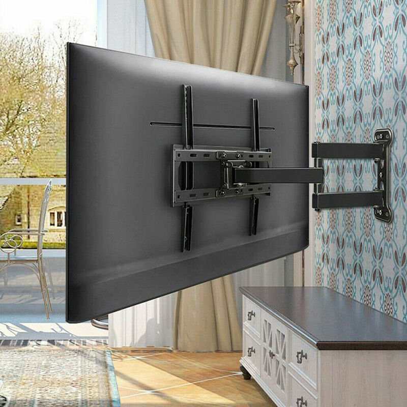 TV Bracket Wall Mount Double Arms Ultra Strong Stable Support LCD LED 32-55 Inch