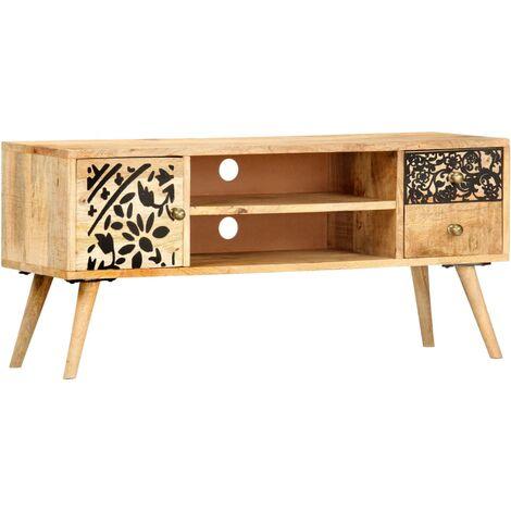 TV Cabinet 100x30x45 cm Solid Mango Wood