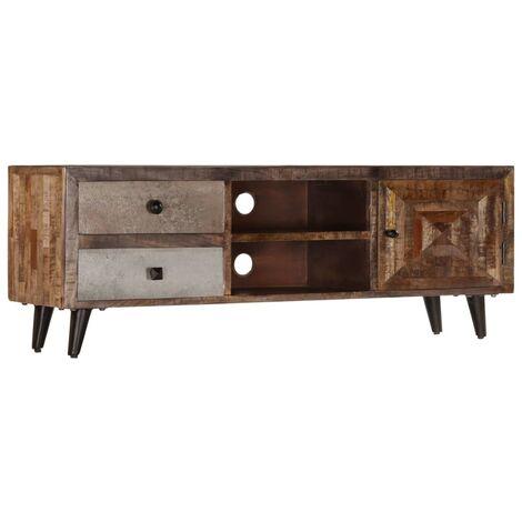 TV Cabinet 118x30x40 cm Solid Mango Wood