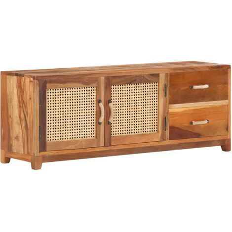 TV Cabinet 120x30x45 cm Solid Reclaimed Wood