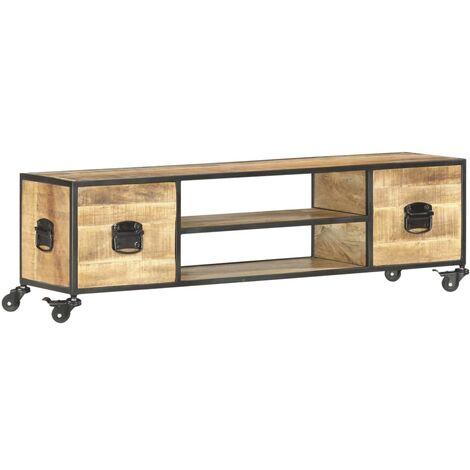 TV Cabinet 130x30x39 cm Solid Mango Wood