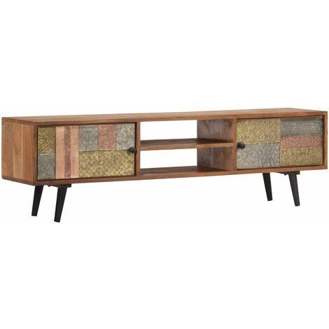 TV Cabinet 140x30x40 cm Solid Acacia Wood