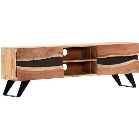 TV Cabinet 140x30x45 cm Solid Acacia Wood