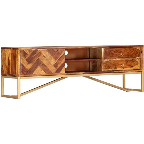 TV Cabinet 140x30x45 cm Solid Sheesham Wood