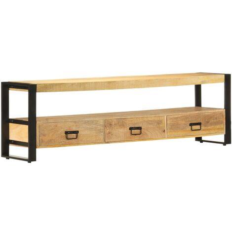 TV Cabinet 150x30x45 cm Solid Mango Wood