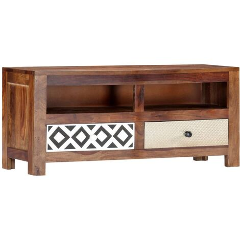 TV Cabinet 90x30x40 cm Solid Sheesham Wood