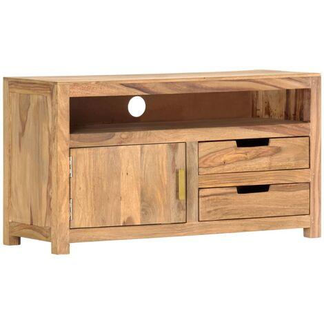 TV Cabinet 90x35x50 cm Solid Sheesham Wood