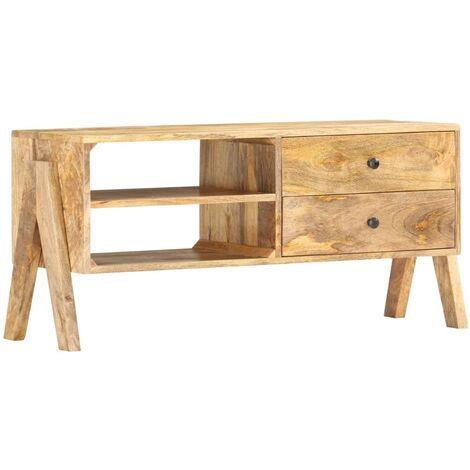 TV Cabinet 97x35x47 cm Solid Mango Wood