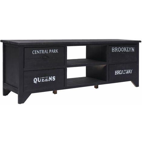 TV Cabinet Black 115x30x40 cm Wood