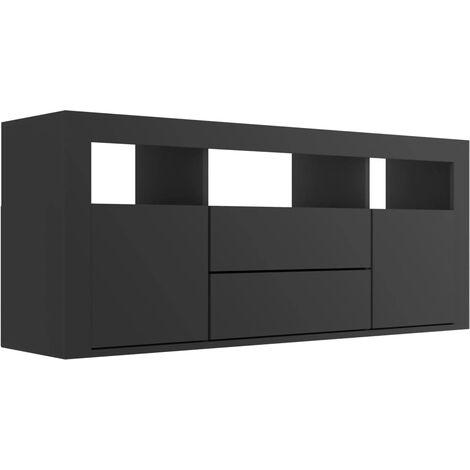 TV Cabinet Black 120x30x50 cm Chipboard