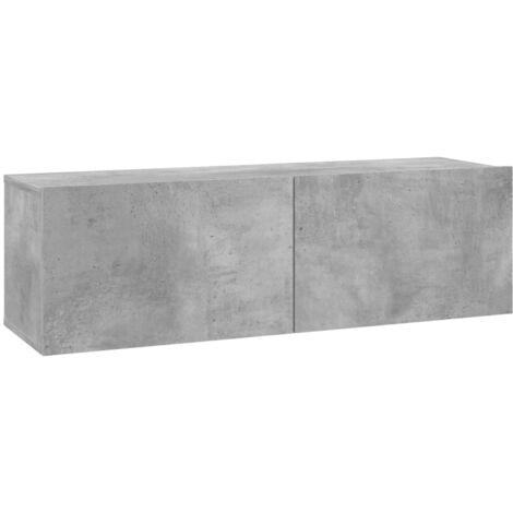 TV Cabinet Concrete Grey 100x30x30 cm Chipboard