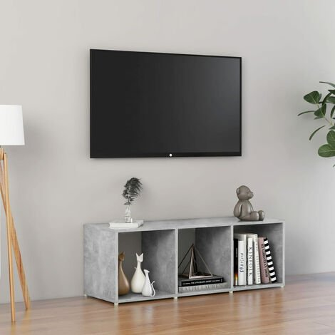 "main image of ""TV Cabinet Concrete Grey 107x35x37 cm Chipboard"""