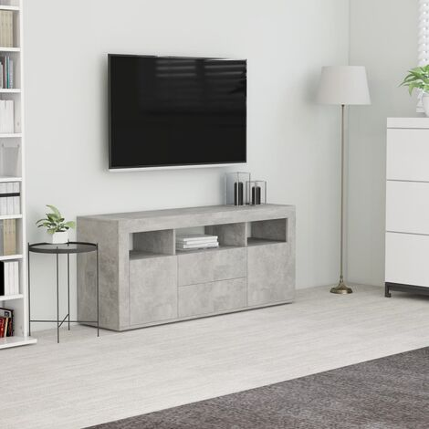 TV Cabinet Concrete Grey 120x30x50 cm Chipboard