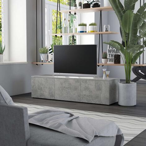 "main image of ""TV Cabinet Concrete Grey 120x34x30 cm Chipboard"""