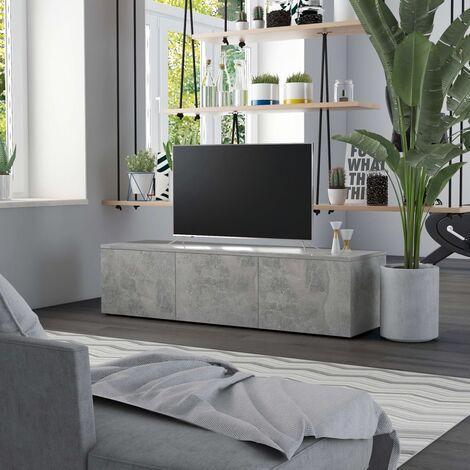 "main image of ""TV Cabinet Concrete Grey 120x34x30 cm Chipboard - Grey"""