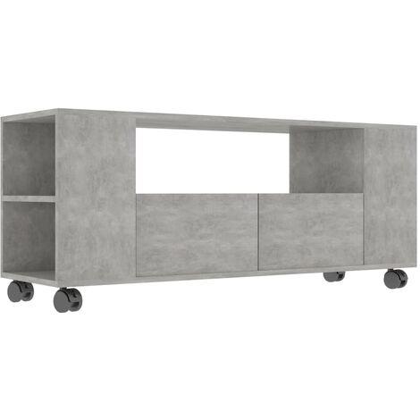TV Cabinet Concrete Grey 120x35x43 cm Chipboard